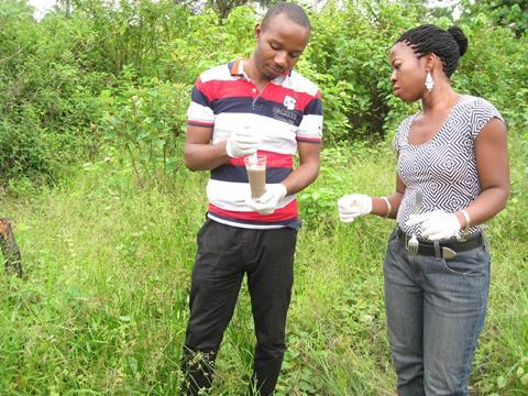 An image showing Eucharia Nwaichi and her Graduate student, Iwo Godknows