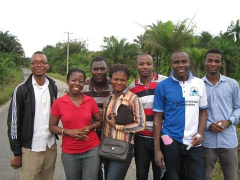An image showing Eucharia Nwaichi and her team