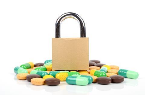 Tablets and padlock