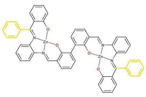 Schematic representation of bis Zn salphen complex