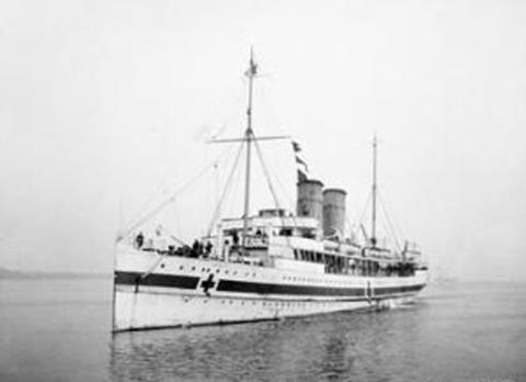 The hospital ship Anglia