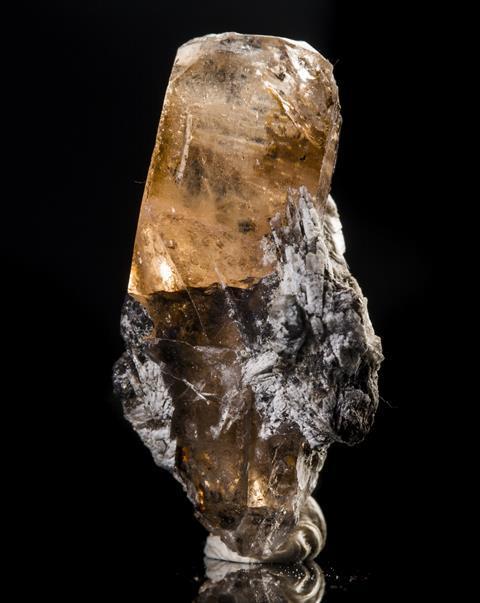 Uncut topaz mineral