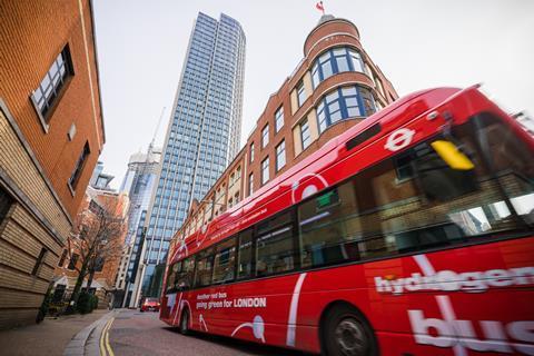 A hydrogen powered double decker in London