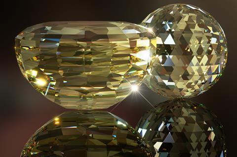 Illustration of the American Golden Topaz and Golden Topaz Sphere.