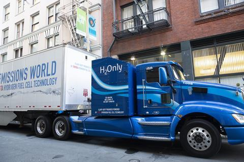 Hydrogen powered articulated lorry
