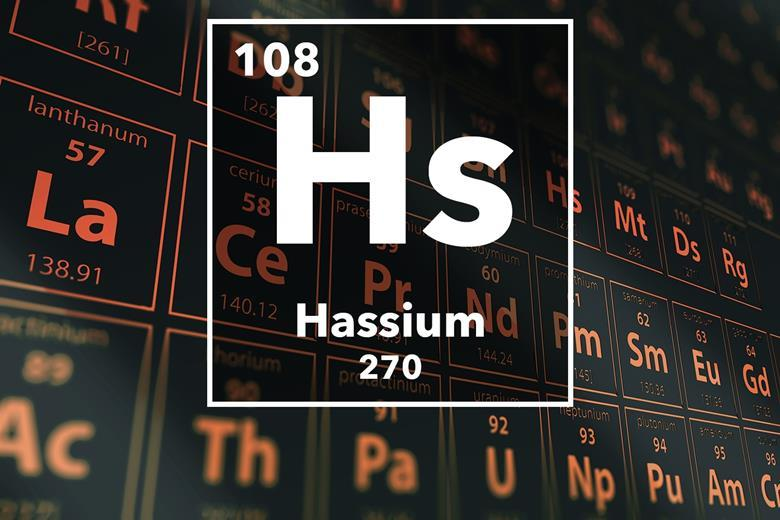 Hassium podcast chemistry world periodic table of the elements 108 hassium urtaz Images