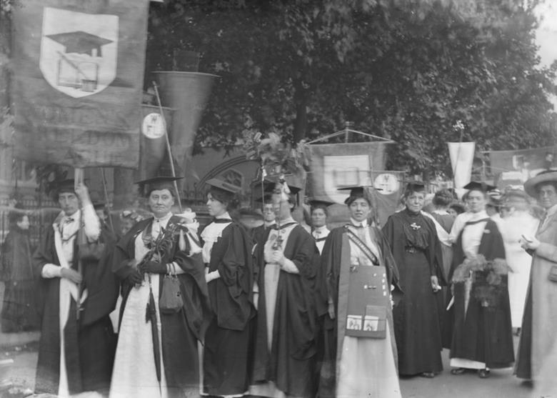 Graduate members of the WFL, Great Suffrage Procession 1910